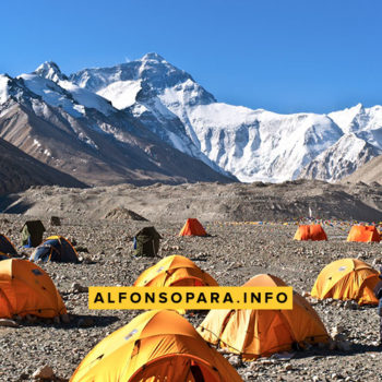 campo base norte del monte everest tibet